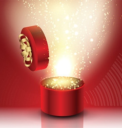 Exploding gift box vector image