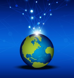 globalization technology network vector image vector image