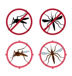 Mosquito icons set vector image