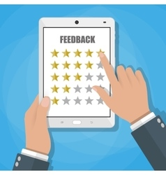 Online review feedback concept vector