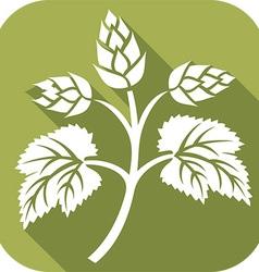 Beer hop icon vector
