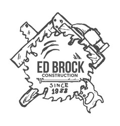 construction company label and badges vector image