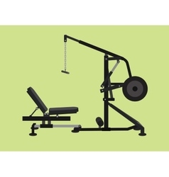 pull down machine isolated with green background vector image
