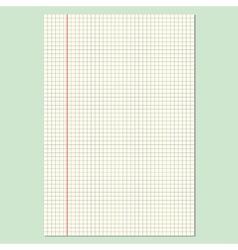 Checkered Sheet vector image