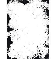 grunge texture with ink spots vector image vector image