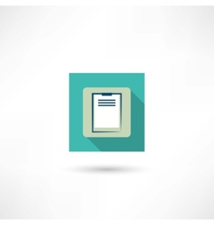 Office tablet icon vector