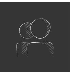People Drawn in chalk icon vector image
