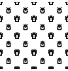 School backpack pattern simple style vector image