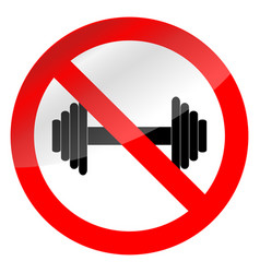 weight lifting ban vector image vector image