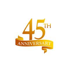 45 year ribbon anniversary vector image