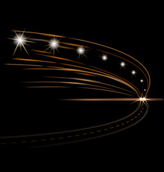 Abstract light effects car headlight road vector