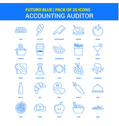 Accounting auditor icons - futuro blue 25 icon vector