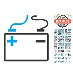 Accumulator Icon With 2017 Year Bonus Symbols vector