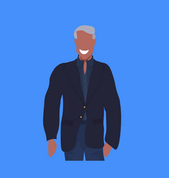 african american man in casual clothes standing vector image