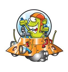 alienufo vector image