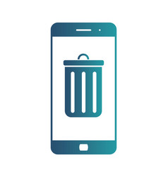 And icon of smartphone and mobile vector