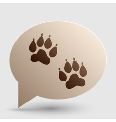 Animal tracks sign brown gradient icon on bubble vector