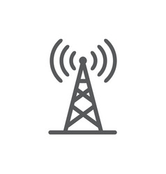 Antenna line icon on white background vector