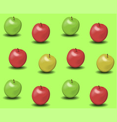 apples background vector image