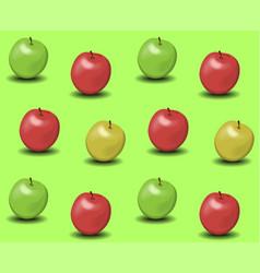 Apples background vector