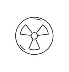 atomic industry line icon concept atomic industry vector image