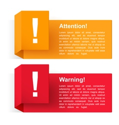 Attention and Warning Banners vector image