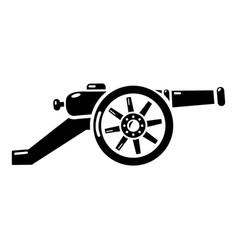 Automatic gun icon simple style vector