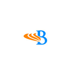 b letter wing logo vector image