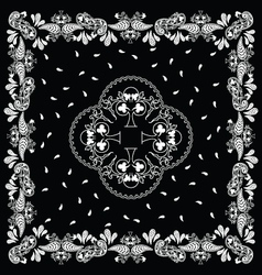bandana black white vector image