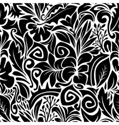 Black and white contours vector