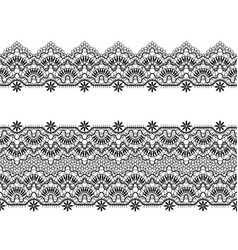 Black lace ribbons vector