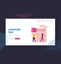 Characters save vacation fund summer spending vector