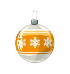Christmas ball yellow gold white colour vector