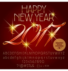 Classic happy new year 2017 greeting card vector