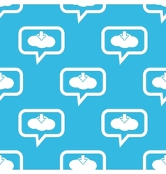 Cloud download message pattern vector image