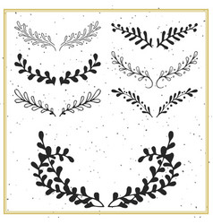 Collection hand drawn floral borders and vector