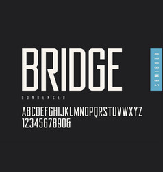 condensed semibold retro sans serif vector image
