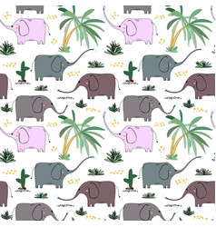 Creative seamless childish pattern with cute vector