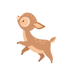 cute happy badeer adorable forest fawn animal vector image