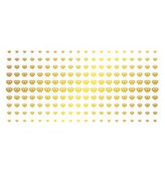 diamond golden halftone matrix vector image