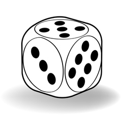 Dice outline vector