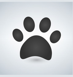 Dog paw print paw icon vector