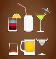 Drinks clip art vector image