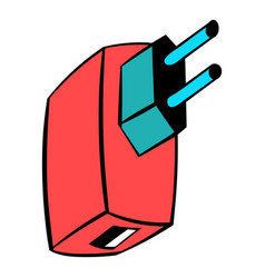 electric power adapter icon cartoon vector image