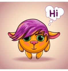 Emo alien animal character vector