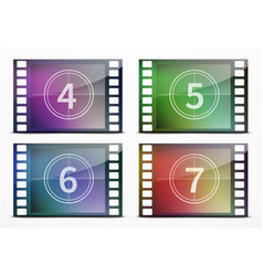 Film screen countdown vector