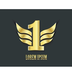 First place symbol Golden design vector image