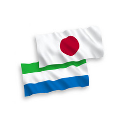 Flags japan and sierra leone on a white vector