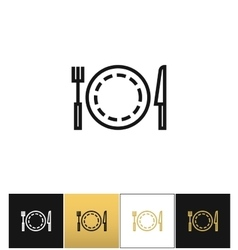 Food or luncheon icon vector