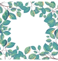 frame of leaves Natural background vector image